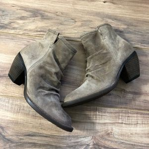 $145 Born Aire Taupe Bootie 8M